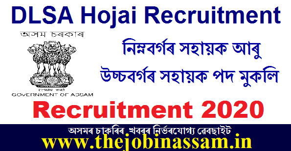 District Legal Services Authority, Hojai Recruitment 2020