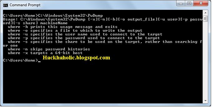 Hack Windows Password Using Pwdump and John The Ripper