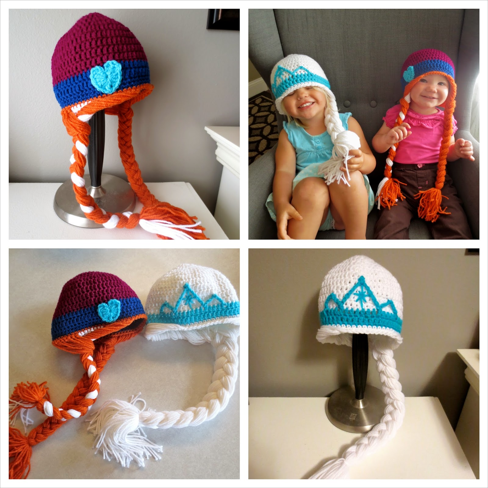 Handiy Tutorials Frozen Inspired Crochet Hats