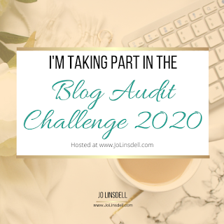 I'm taking part in the Blog Audit Challenge 2020 #BlogAuditChallenge2020