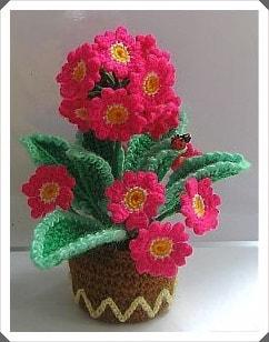 Tığ işi Çiçek Motifleri 3
