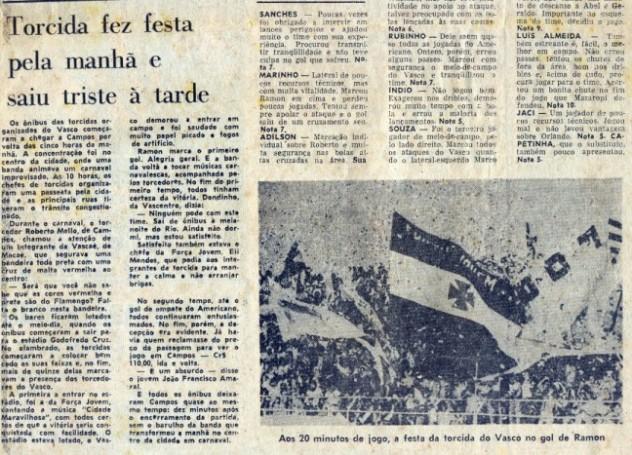 Torcidas do Vasco  FORÇA JOVEM E VASCENTRO 1977  CARAVANA A CAMPOS 87937ada04faf