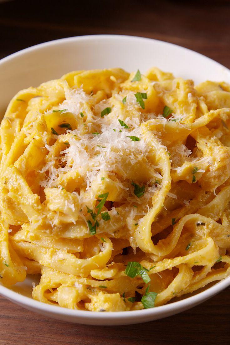 PUMPKIN ALFREDO #noodle #vegan #healthyrecipe #healthydinner #food