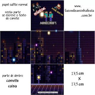 Pixel Gum 3D, Roblox y Minecraft: Cajas para Imprimir Gratis.
