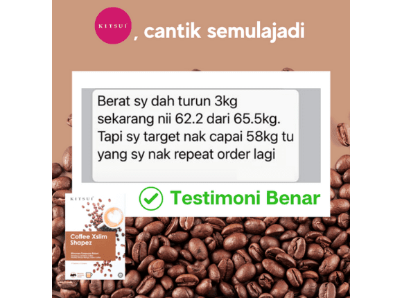 Testimoni Pengguna  Kitsui Coffee Xslim Shapez 3