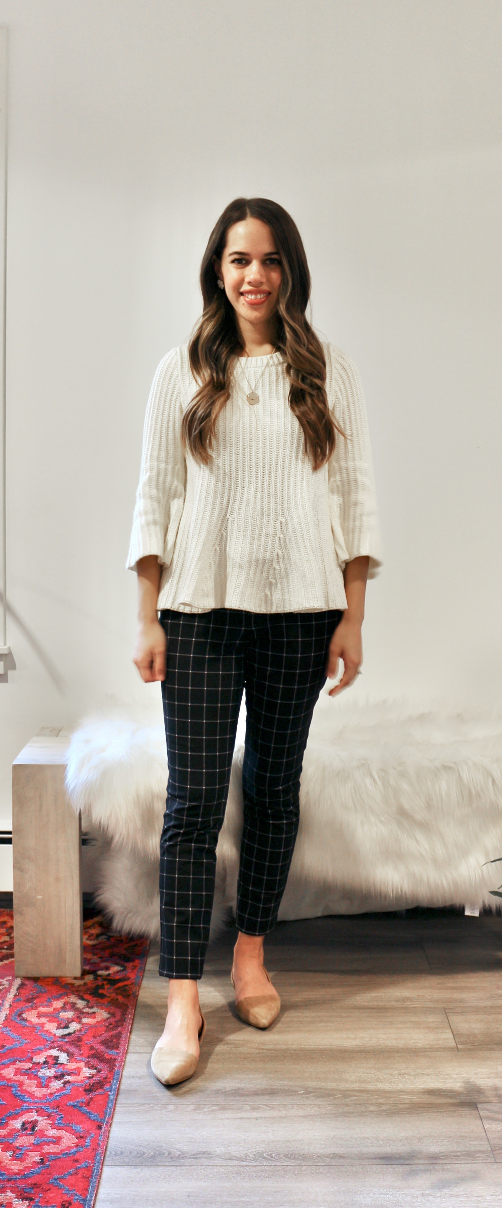 Jules in Flats - Windowpane Ankle Pants (Business Casual Workwear on a Budget)