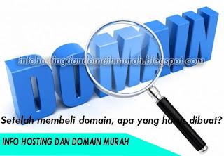 Setelah membeli domain apa yang harus dibuat?