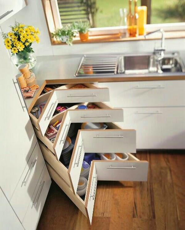 Armarios para ahorrar el espacio en cocinas peque as for Modelos de muebles de cocina para espacios pequenos
