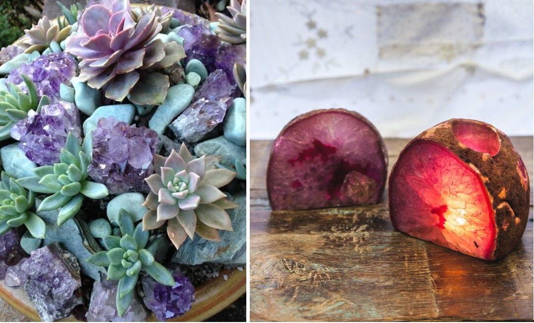 Geode Table Decorations