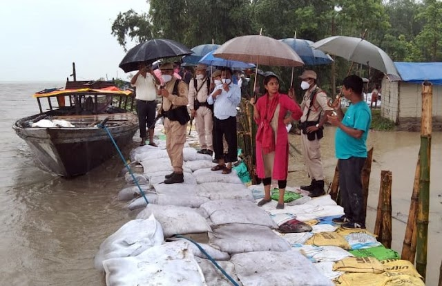 Rescue operation and other logistic support for flood affected people is going on under Bongaigaon District Administration