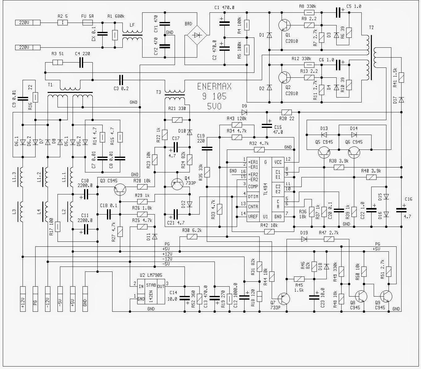 Eletronica Geral Fontes At E Atx Para Computadores
