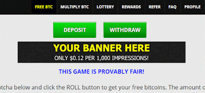 banner freebitco.in bitcoin impression anúncio advertise