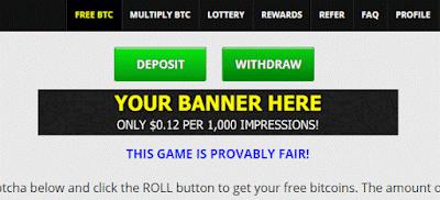 banner freebitco.in bitcoin impression anúncio advertise