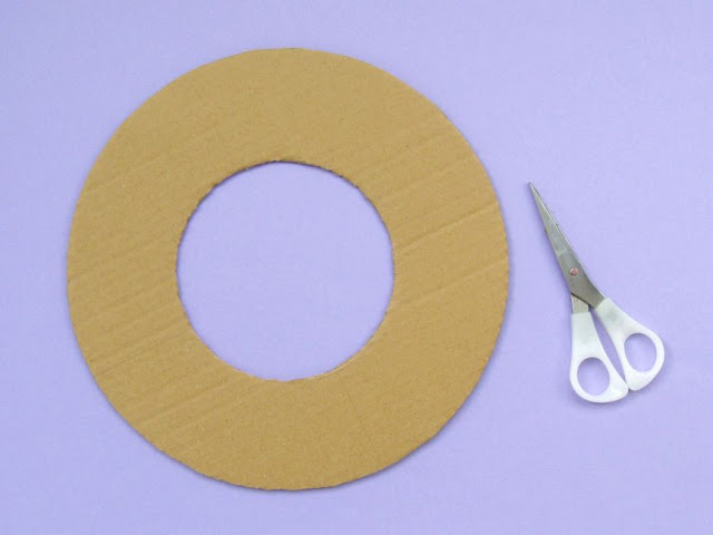 cut out the wreath shape from strong card