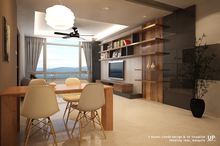 Residential_minimalist interior design idea_3 Rooms Condominium_Living Dining Room_Petaling jaya_Malaysia_00