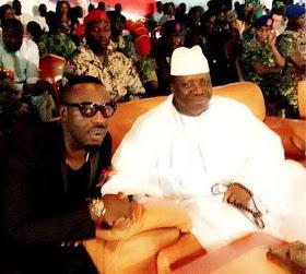 Jim Iyke And Gambia's Yahya Jammeh In 2014 (Throwback Photo)