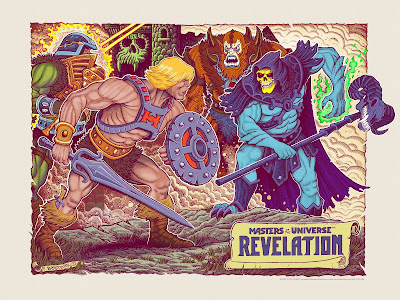 San Diego Comic-Con 2021 Exclusive Masters of the Universe Revelation Screen Print by Florian Bertmer x Mondo