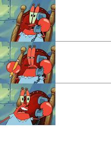 Polosan meme tuan krab 14 - tuan krab kebingungan saat menerima telepon misterius dari seseorang