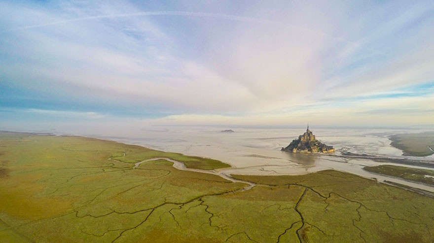 10. Mont Saint Michel, In Normandie, France - 12 of The Most Stunning Images Captured By Drones In 2015