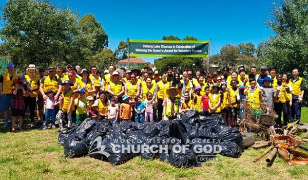 Church of God Volunteers Spread Mother's Love with Coburg Lake Cleanup