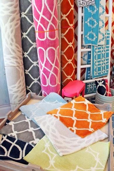 COCOCOZY rugs at Lotus Bleu store shop in San Francisco