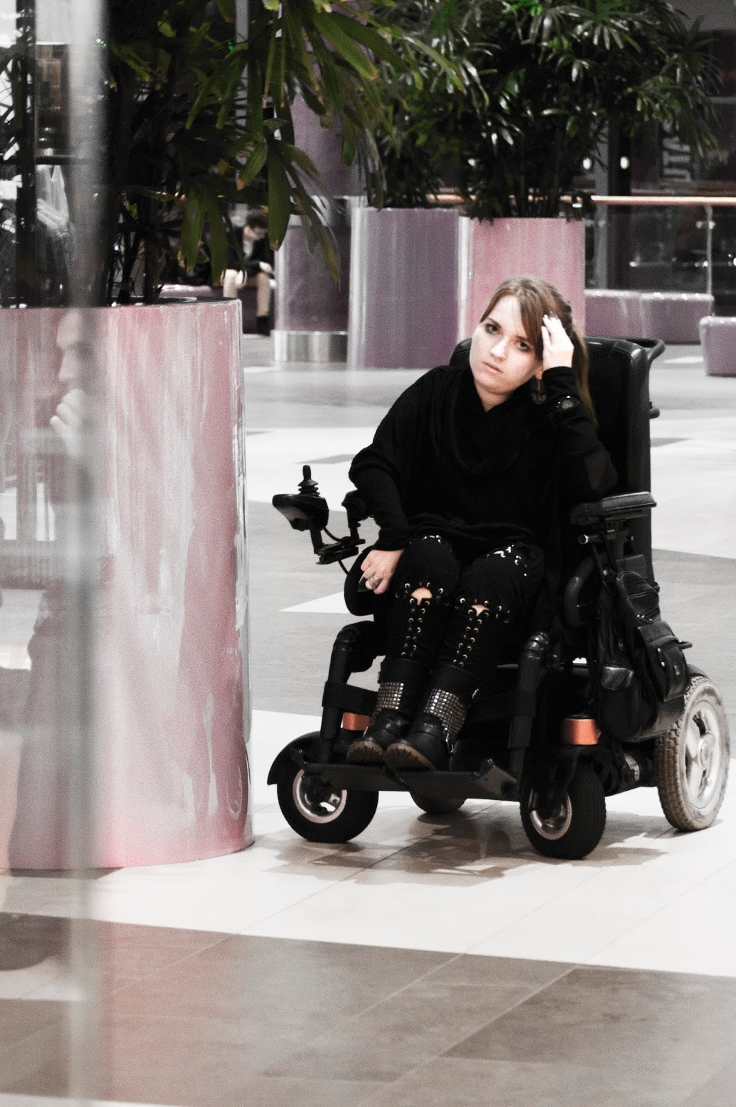 goth on wheelchair