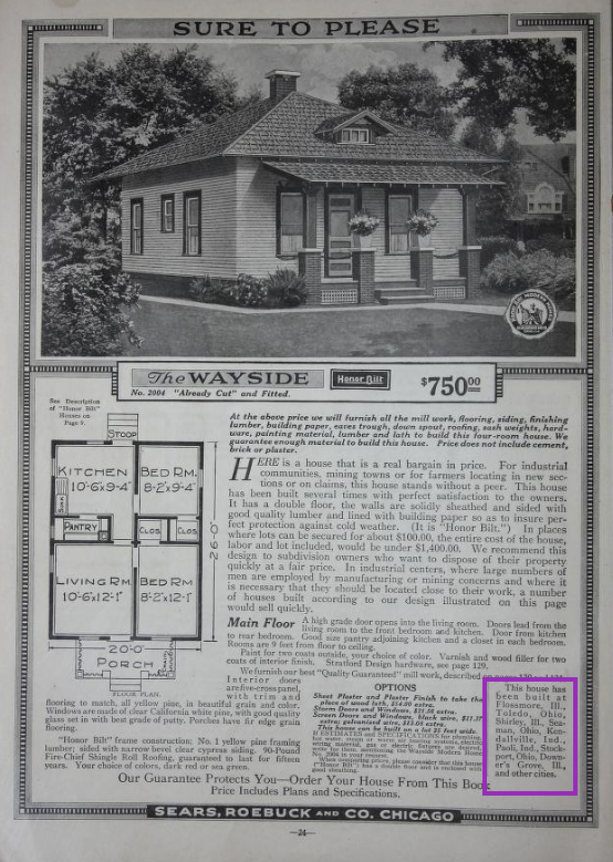 1918 catalog image full page of Sears Wayside