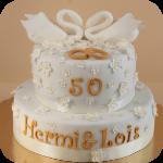 50er Hochzeitstorte