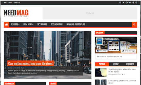NeedMag Blogger Template Free download - Responsive Blogger Template Download