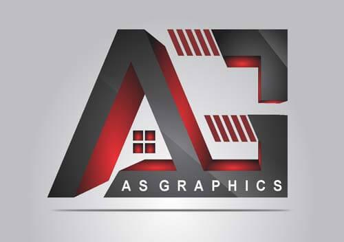 AE Alphabet Logo Design Vector