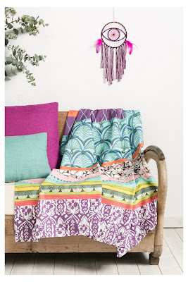 Botanical Dream Foular Decorativo Desigual