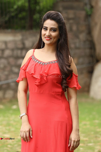 Manjusha looks super cute beautiful in Red Dress ~  Exclusive 002.JPG