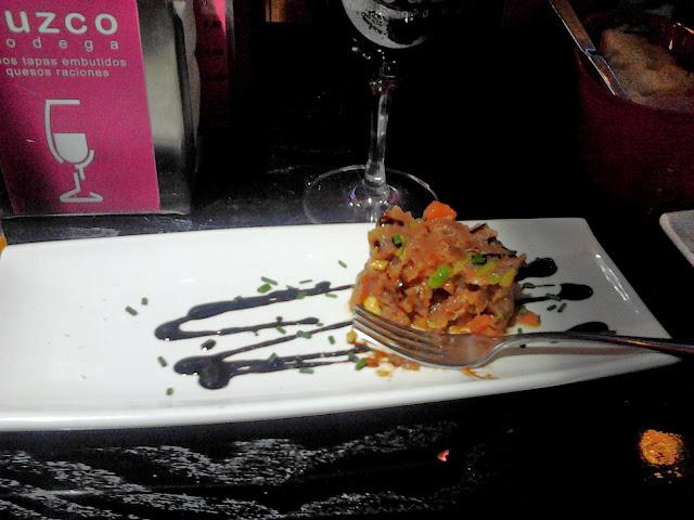 Tartar de atún - Bar de tapas Cuzco, Salamanca