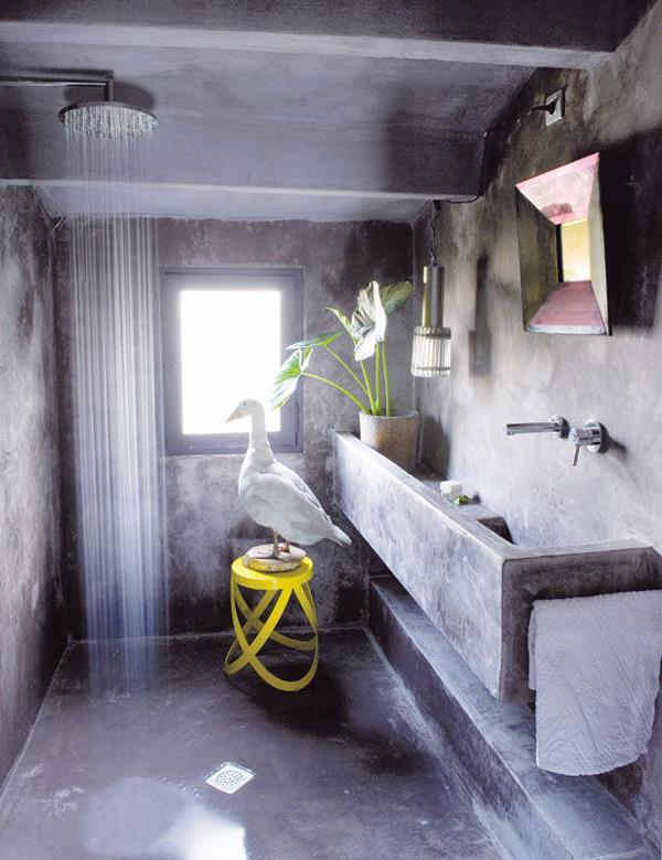 Marta decoycina ba os con estilo date un ba o de lujo - Revestimiento cemento pulido banos ...