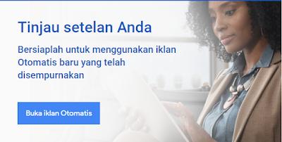 Iklan otomatis baru yang disempurnakan adsense untuk blog