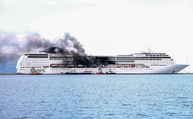 Κατασβήστηκε πλήρως η φωτιά που ξέσπασε στο κρουαζιερόπλοιο MSC Lirica, το οποίο βρίσκεται δεμένο στο πλαίσιο lay up, χειμερινής διακοπής, στο λιμάνι του Οργανισμού Λιμένος Κέρκυρας από τις 30 Ιανουαρίου.