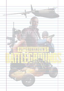 Folha Papel Pautado Battlegrounds modelo 13 PDF para imprimir folha A4
