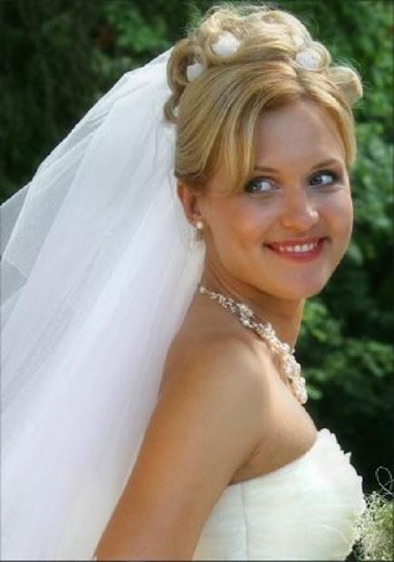 wedding updos with veil