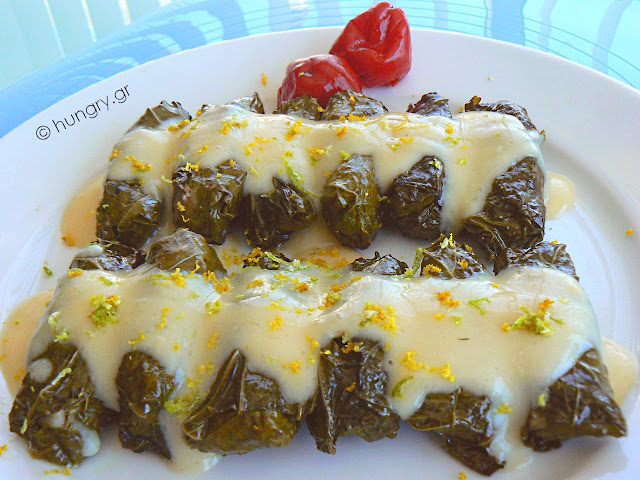 Stuffed Vine Leaves Avgolemono