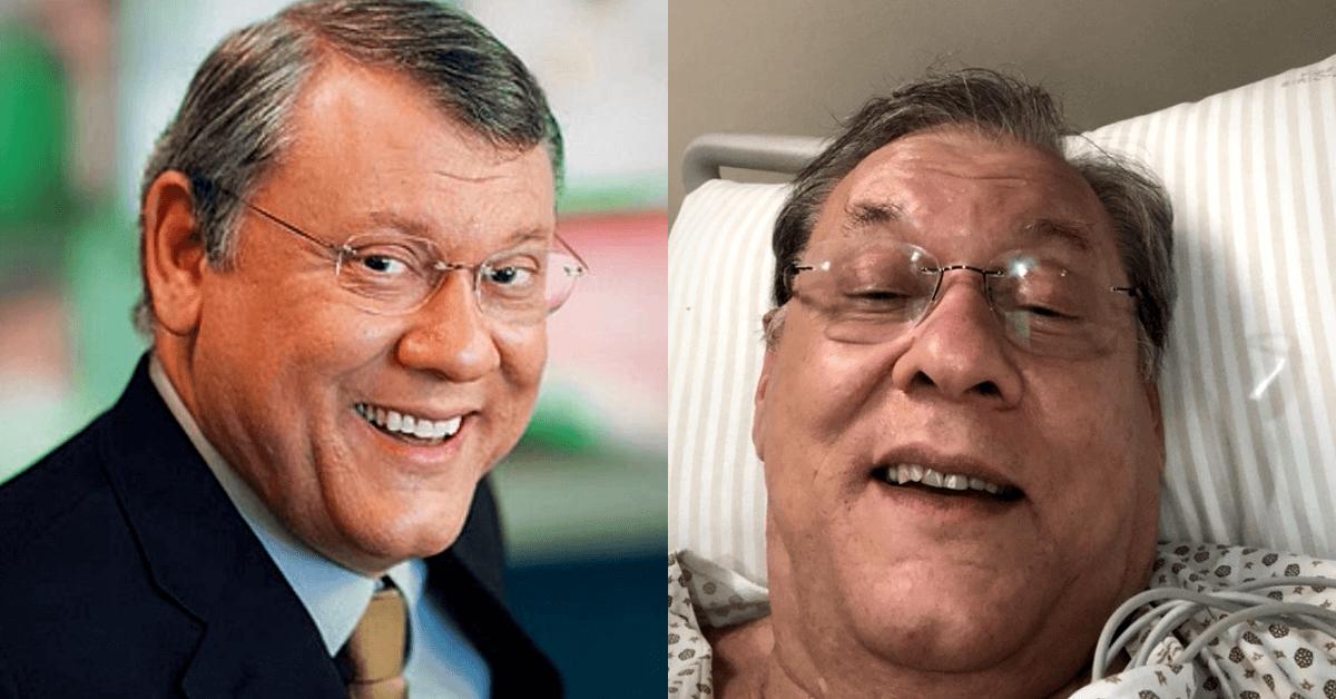 Milton Neves passa mal ao vivo e abandona programa