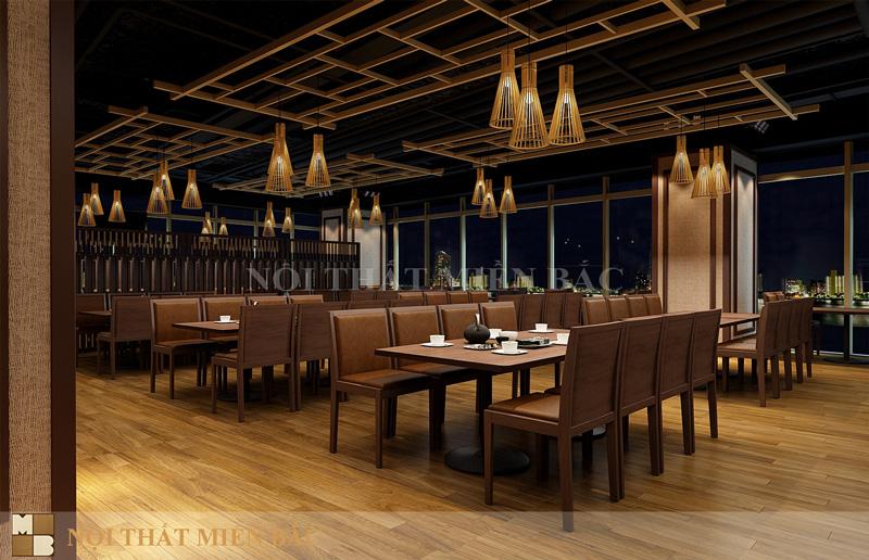 Thiết kế nhà hàng kiểu Nhật với không gian yên bình, thư thái