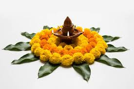 diya-and-flower-decoration