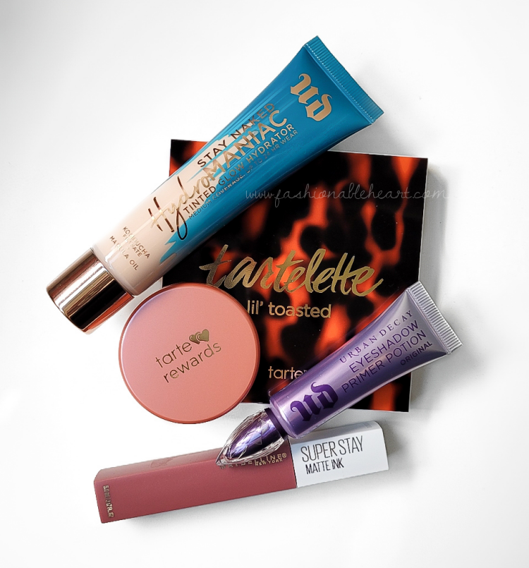 bblogger, bbloggers, bbloggersca, bbloggerca, canadian beauty bloggers, beauty blog, monthly favorites, urban decay, hydromaniac, foundation, tarte, amazonian clay blush, quirky, lil' toasted palette, urban decay, primer potion, maybelline, superstay matte ink, revolutionary