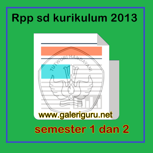 Rpp Sd Kurikulum 2013 Lengkap Doc Galeri Guru Galeri Guru