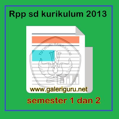 Rpp SD Kurikulum 2013 lengkap doc {Galeri Guru}