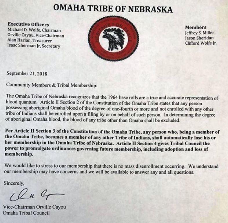 Original Pechanga's Blog: Disenrollments at Omaha Tribe of Nebraska