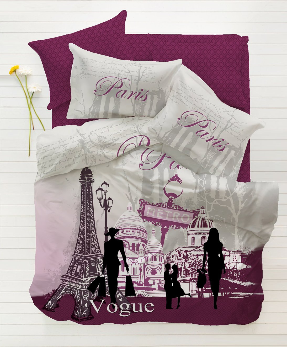 Total Fab Paris & Eiffel Tower Themed Bedding for Less