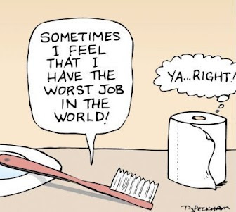 Worst-job in the world- ask toilet paper