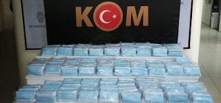 الأمن التركي يحبط عملية تهريب غير شرعية  لـ 6 آلاف 900 قناع طبي
