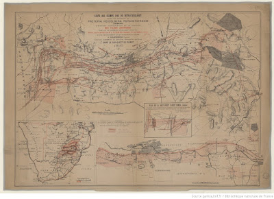 Map of the gold mines of Witwatersrand from 1895